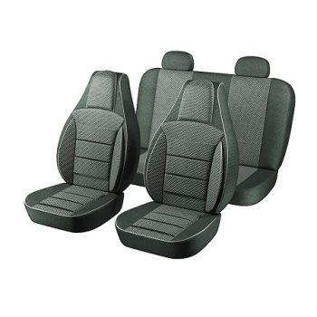 Авточехлы для салона Chevrolet Aveo '06-11 T250, темно серый (Пилот)
