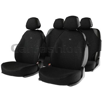 """Комплект майки чехлы на сиденья """"BINGO"""", черный (CarFashion)"""