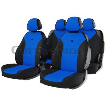"""Комплект майки чехлы на сиденья """"BINGO"""", синий/черный/синий (CarFashion)"""