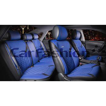Универсальные чехлы на сиденья STING PLUS, черный/синий (CarFashion)