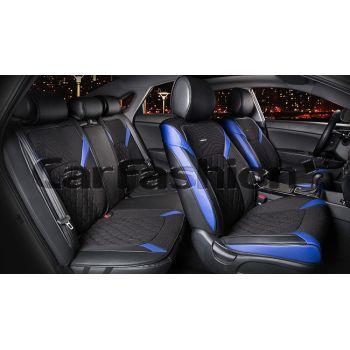 Универсальные чехлы на сиденья STING PLUS, синий/черный (CarFashion)