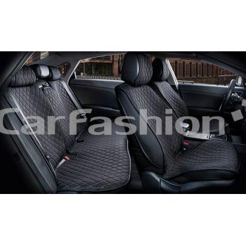 Каркасные накидки на сиденья комплект Crown, черный / черный / черный, (CarFashion)