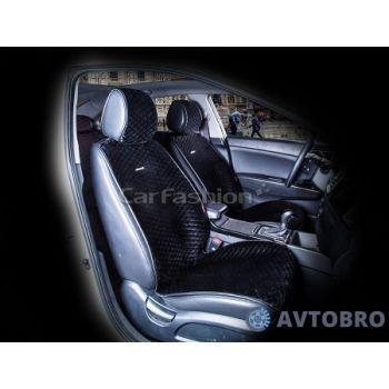 Накидки на передние сидения City черный CarFashion