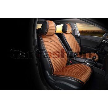 Накидки на передние сидения Monaco коричневый/черный CarFashion
