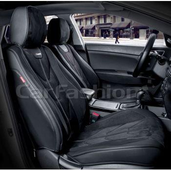Универсальные чехлы на передние сиденья Start front, черный / черный / черный (CarFashion)