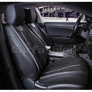 Универсальные чехлы на передние сиденья Start front, черный / черный / темно-серый (CarFashion)