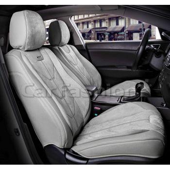 Универсальные чехлы на передние сиденья Start front, серый / серый / серый (CarFashion)