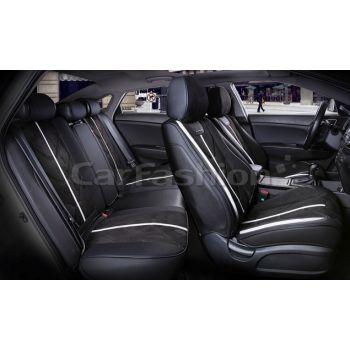 Универсальные чехлы на сиденья Start plus, черный / черный / бежевый (CarFashion)