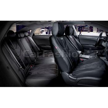 Универсальные чехлы на сиденья Start plus, черный / черный / черный (CarFashion)