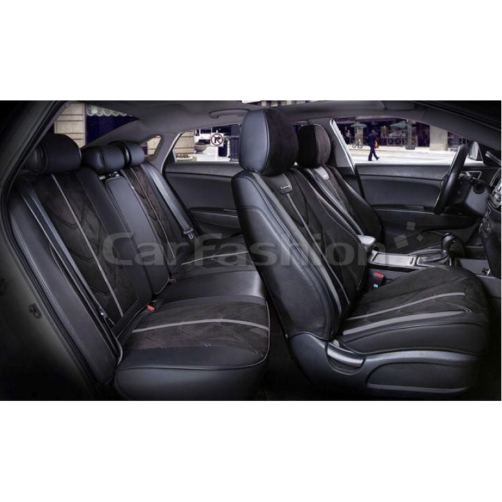 Универсальные чехлы на сиденья Start plus, черный / черный / темно-серый (CarFashion)
