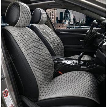 Накидки на передние сидения Maxi Palermo серые, (Elegant)